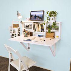 kleines Home Office einrichten kleiner Bürotisch an der Wand Mehr