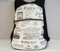 Patterns and explanations to make a backpack Mochila Tutorial, Purse Tutorial, Couture Sewing, Simple Bags, Sewing Patterns Free, Handmade Bags, Dame, Sewing Projects, Purses