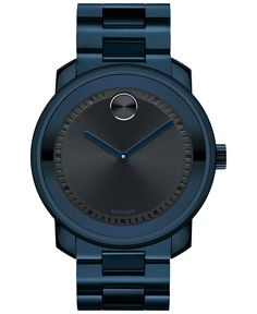 Movado Men's Swiss Bold Navy PVD-Finished Stainless Steel Bracelet Watch 43mm 3600296 - Movado - Jewelry & Watches - Macy's