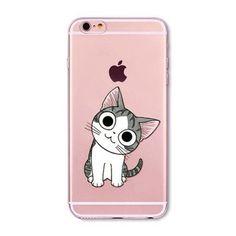 Cat Emoji Transparent Phone Case Cover Phone 6 6S 5 5S SE 6Plus 6sPlus 5C 4 4S