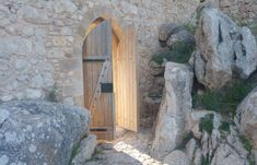 The Entrance Doorway - Kritinia Castle In Rhodes
