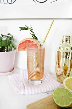 Grapefruit Citrus Sparkling Mocktail – A Beautiful Mess