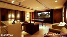 Yet another superb and cosy entertainment room by Clarity AV in Singapore. #homecinema #hometheater #Projector