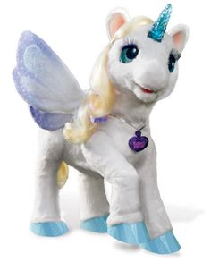 My Magical Unicorn - StarLily, from the Hasbro's Furreal Friends line is an interactive toy designed for kids ages 4 and up. Starlily responds to people touching her hair, horn, cheeks, and chin.