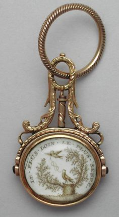 """Le Plus Loin Le Plus Serre"" An extraordinary example of a husband's memorial watch fob in memory of his wife."