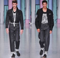 Sibling 2014 Spring Summer Mens Runway - London Collections Men Catwalk Fashion Show: Designer Denim Jeans Fashion: Season Collections, Runways, Lookbooks and Linesheets