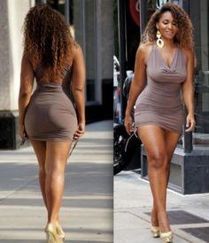 Plus size fashion tips you must know - Models Curvy Curve Fashion, Plus Size Fashion, Classy Fashion, Girl Fashion, Fashion Tips, Vestidos Sexy, Mini Vestidos, Beautiful Curves, Beautiful Black Women