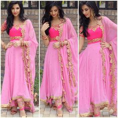 Here's a full length picture of the outfit! From the outfit is even more gorgeous in reality, pictures don't do justice! Punjabi Fashion, Ethnic Fashion, Bollywood Fashion, Indian Fashion, Bollywood Dress, Indian Attire, Indian Wear, Pakistani Outfits, Indian Outfits