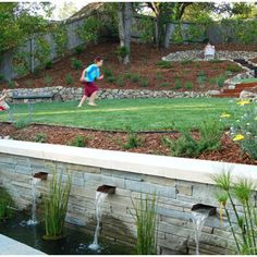 Sloped Backyard Design Ideas, Pictures, Remodel, and Decor – page 2 - All About Garden Sloped Yard, Sloped Backyard, Modern Backyard, Large Backyard, Backyard Patio, Backyard Ideas, Garden Ideas, Terraced Backyard, Backyard Garden Landscape