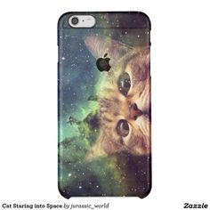Cat Staring into Space Clear iPhone 6 Plus Case