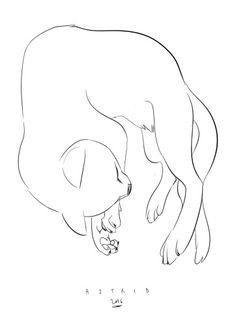Art by astrid #cat #white