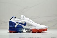 san francisco c10a1 61034 Nike Air VaporMax 2018 2.0 Flyknit MOC White Blue Red Women Men