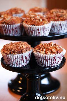 Eplemuffins med honning, mandler og kanel | Det søte liv (Norwegian recipe)