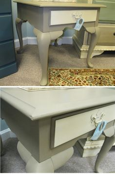 Occasional table painted with Annie Sloan Chalk Paint in Coco and Old Ochre. Distressed and finished with Clear Wax Chalk Paint Colors, Annie Sloan Chalk Paint, Painted Furniture For Sale, Custom Paint, Wax, Decorating Ideas, Table, Painting, Inspiration