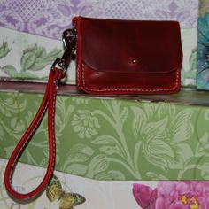 Tiny Red Leather Purse. $26.00, via Etsy.