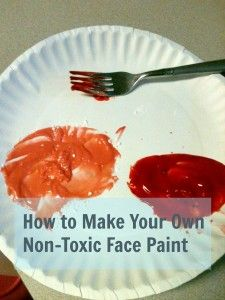 How to Make Your Own Non-Toxic Face Paint at @MomPrepares via @Brenda Priddy