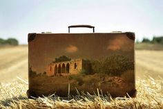 Old Suitcases are Canvases for Remembrances of a Previous Life