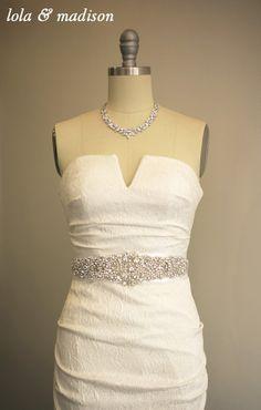 Alexis  Bridal Sash Wedding gown belt sash by lolaandmadison, $250.00