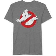 Jem Men's Ghostbusters Graphic-Print T-Shirt ($13) ❤ liked on Polyvore featuring men's fashion, men's clothing, men's shirts, men's t-shirts, charcoal, mens t shirts and mens graphic t shirts