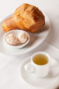 popovers and strawberry jam with consomme from NM. mmmm...