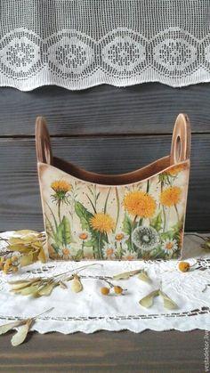 Купить Короб Одуванчики в стиле кантри ,  в  винтажном стиле - короб для хранения, короб декупаж