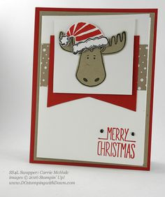 Stampin' Up! Jolly Friends swap cards shared by Dawn Olchefske #dostamping #stampinup (Carrie McHale)