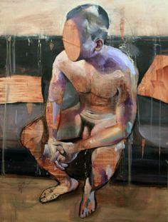 Lou Ros: Corpus 8, 130x97cm, mixed media on canvas, 2012