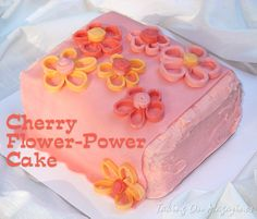 Cherry Flower Power CakeTaking On Magazines One Recipe at a Time