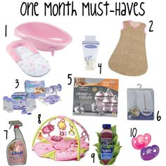One Month Must-Haves for Baby: Mommy in Training | A New Moms Perspective on Parenthood