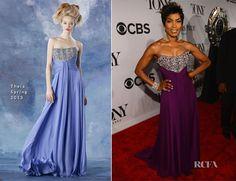 Fashion Trends: Angela Bassett In Theia – 2013 Tony Awards