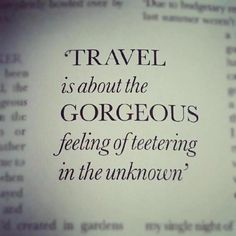 I love to travel..