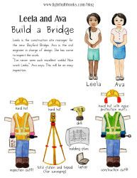 Gorgeous paper doll sets with stories/messages for children. All free at Lightbulb Books.