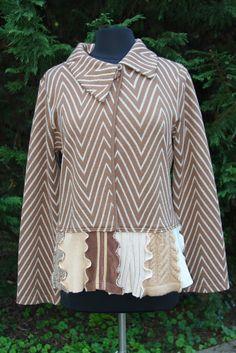 Caramel Waves Women's FallWeight Jacket  Upcycled by UpTickChic, $34.00