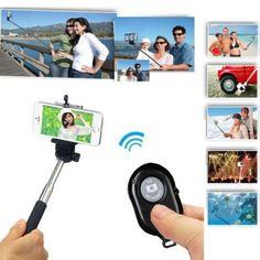 Pack of Selfie Stick+ Bluetooth Shutter + Free Stylus Pen