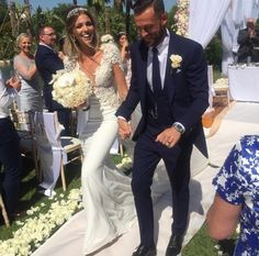 Congratulations to the beautiful Rachel Monaghan on her wedding to footballer Steven Fletcher and for how divine she looked in her ‪#‎BERTA‬ dress <3 Berta store - Opus Atelier Event Design - Jordana Events