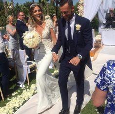 Congratulations to the beautiful Rachel Monaghan on her wedding to footballer Steven Fletcher and for how divine she looked in her #BERTA dress <3 Berta store - Opus Atelier Event Design - Jordana Events