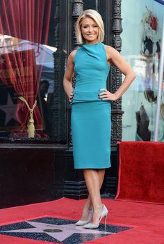 Vestido azul de Kelly Ripa