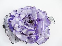 Wedding Hair Flower, Lavender Flower Accessory, Made To Order, Bridal Accessory,