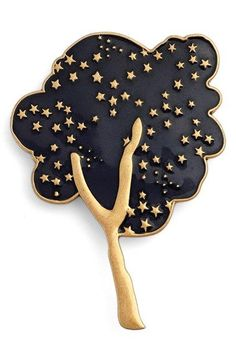 Free shipping and returns on MARC JACOBS 'Tree' Guilloché Enamel Brooch at Nordstrom.com. Golden inlayed stars sparkle among the branches of an enameled tree pin, adding a bit of celestial whimsy to the vintage-inspired piece.