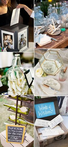 unique wedding notes guest book ideas