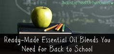 9 Ready-Made Essential Oil Blends You Need for Back to School - Holistic Health Herbalist Making Essential Oils, Essential Oil Blends, Helichrysum Essential Oil, Right Brain, Home Remedies, Peppermint, Health And Beauty, Back To School, Essentials