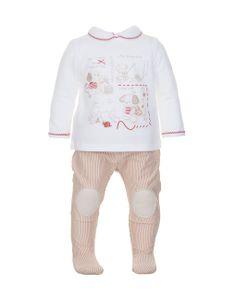 Prenatal - Moda Baby: abbigliamento da 0 ai 30 mesi per il tuo bambino, bimbo, bebè - Completi - Prenatal - Completo maglia bianca e ghetta