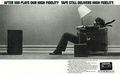 Classic ad for Maxell audiocasette tape.