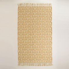 One of my favorite discoveries at WorldMarket.com: Yellow and Ivory Flatweave Flynn Indoor Outdoor Rug