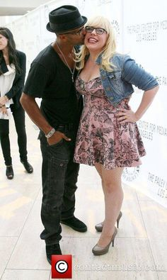 "SHEMAR MOORE with his ""Baby Girl"" Penelope Garcia, aka Kirsten Vangsness! Damn she is lucky!"