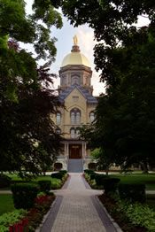 Notre Dame campus in South Bend, Indiana