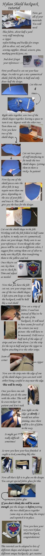 Zelda shield backpack tutorial by =Animus-Panthera on deviantART