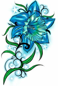 daffodil flower tattoos | Daffodil tatoos fashion ~ Latest fashion