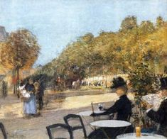 At the Cafe - Childe Hassam - The Athenaeum