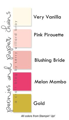 Five Color Combo featuring Pinks and Gold - Stampin Up! colors-001